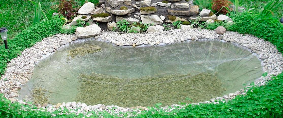 мраморная крошка пруд