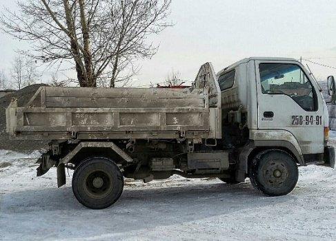 Самосвал 4 тонн с углем балахта